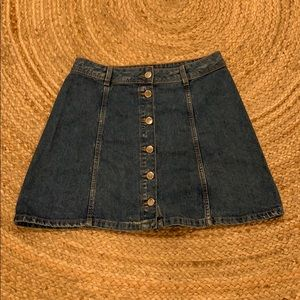 High waisted jean skirt from H&M